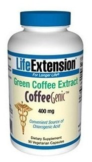 Life Extension CoffeeGenic Green Coffee Extract, 400 mg, 180 vcaps [Item #92712]