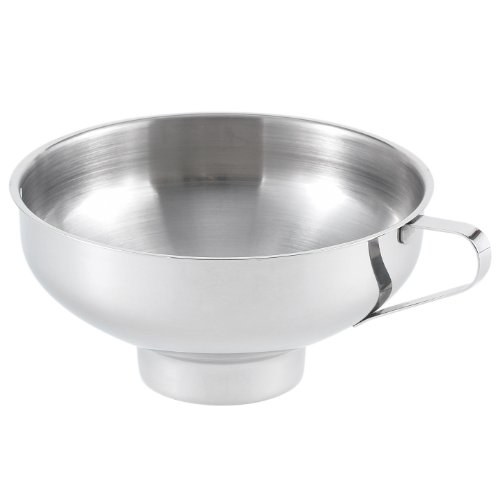 HIC 18/8 Stainless Steel Canning Funnel, 5.5-Inch Diameter