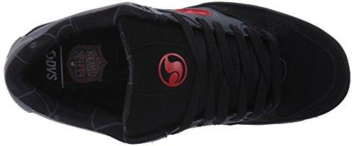 DVS (Elan Polo) Discord - Zapatillas de Skateboard Hombre, Negro (Black/Gum Nubuck) Gris (De Gry/Blk/Red Nubuck Deegan)
