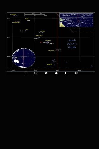 Modern Day Color Map of Tuvalu Journal: Take Notes, Write Down Memories in this 150 Page Lined Journal