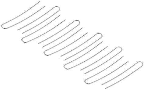 U字型 かんざし金具 ヘアピンスティック ヘアクリップ ヘアピン 約10個入り 全2カラー - 銀