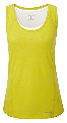 Craghoppers Women's Pro Lite Vest, Spryllw/Optic White, US 12/UK - Optics Uk