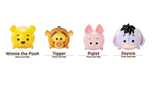 Disney Tsum Tsum 4 Figure Pooh & Pals Pack - Winnie the Pooh Piglet Tigger & Eeyore Large Vinyl Set - Eeyore Figure