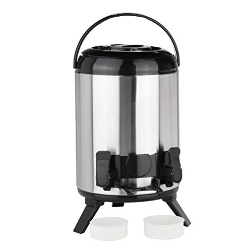 HI Termo para mantener el calor Airpot con grifo – Jarra termica de 9 litros con grifo, jarra de acero inoxidable para cafe, te o vino caliente