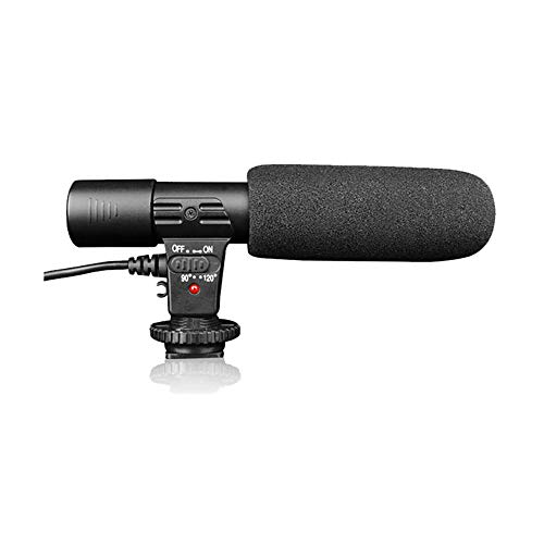- Kuaker Microphone for Camera, High Sensitivity Directional Interview MIC Microphone Stereo Video, for Canon Nikon Sony Panasonic DSLR/Mobile Phone