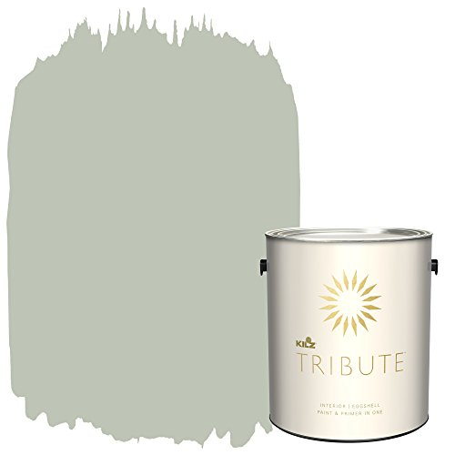 KILZ TRIBUTE Interior Eggshell Paint and Primer in One, 1 Gallon, Loden Frost (TB-73)
