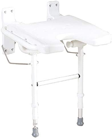 Sitz für Dusche zur Wandbefestigung mit Beinen