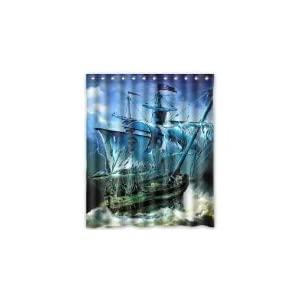 31483x8YBcL._SS300_ 200+ Beach Shower Curtains and Nautical Shower Curtains