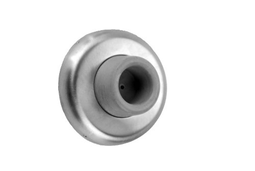 Don-Jo 1407 Wrought Concave Wall Bumper, Satin Chrome Plated, 2-1/2