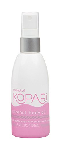 Kopari Coconut Body Oil - Skin Restoring Coconut Dry Oil, Rich with Moisturizing Fatty Acids - Made with 100% Organic Coconut Oil, Non GMO, Vegan, Cruelty Free, Paraben Free and Sulfate Free 3.4 Oz