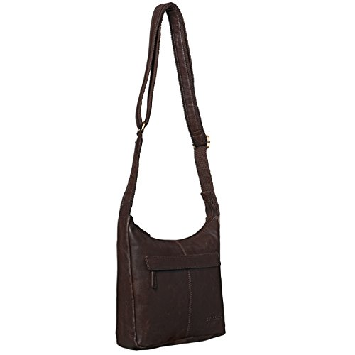 25 x 7 STILORD marrón oscuro pequeño de de auténtico cuero Vintage búfalo x mujeres bandolera 29 5 piel Bolso FwqxPOFvp