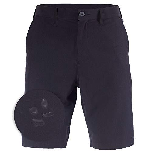 Mens Hybrid Golf Shorts Stretch Chino Quick Dry Big & Tall Boardshorts Black - 44