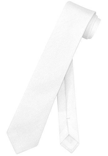 White Pearl Thin - Vesuvio Napoli Narrow Necktie Metallic PEARL WHITE 2.5