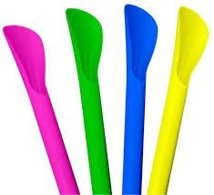 STRAWS NEON COLORS SPOON SCOOP product image