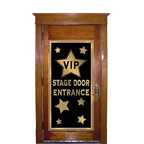 VIP Stage Door Entrance Door Cover 30in. x 5ft. Pkg/3 Academy Awards Party Supplies