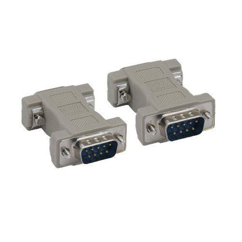 Kentek DB9 9 Pin Male to Male M/M Serial/at Null Modem Adapter Gender Changer Coupler RS-232 Crossover Molded DTE DCE Data Transfer