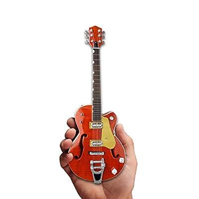 Brian Setzer Mini Guitar Nashville Orange Dice Hollow Body Mini Guitar Replica Collectible: Musical Instruments