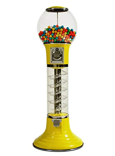Wiz-Kid Wizard Spiral Gumball Vending Machine Height 4' - $0.25 - (Yellow) by Global Gumball (Image #5)