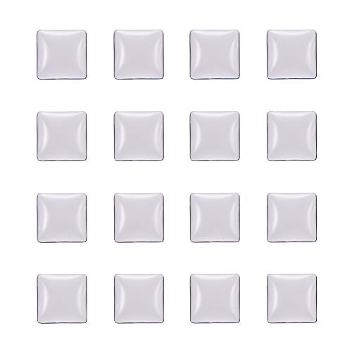 (NBEADS 200 Pcs Transparent Glass Cabochons, Clear Glass Square Cabochons for Cameo Photo Pendants DIY Craft Jewelry Making)