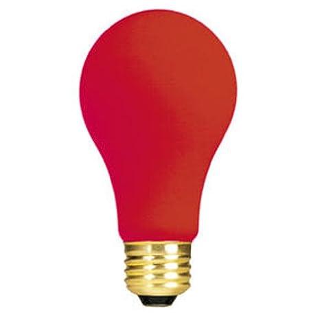 Bulbrite 25A/CO 106525 25-Watt Ceramic, Orange A19 Bulb