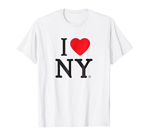 I Love NY Short Sleeve Print Heart New York T-Shirt (Tshirt Heart I Ny)