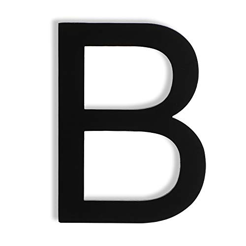 Mellewell Floating House Letters 5 Inch Stainless Steel Black, Comtemporary Style, Letter B, HN05HB-B