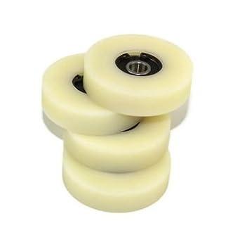 Confezione da 4/x 50/mm diametro lavorate in nylon made in EU 12mm wide-8mm bearing 4