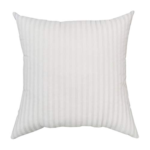 Lamdoo Home Cushion Insert Inner Filling Cotton-Padded Striped Pillow Core Sofa 45x45cm White