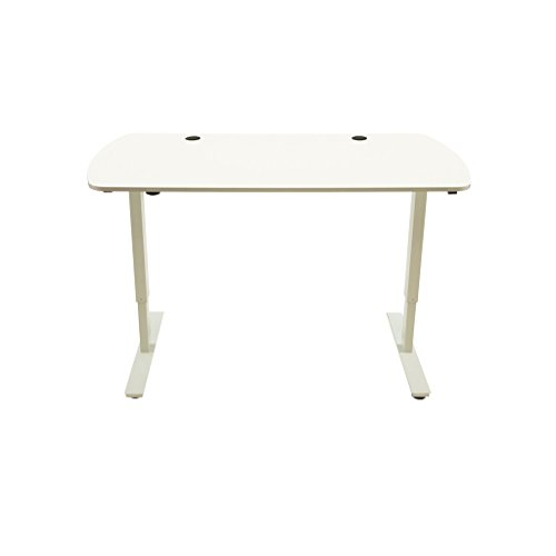 Standee Flex Electric Height Adjustable Standing Desk – 47.5 , 58 , or 72 Desktop – Bamboo or MDF – Black, White, or Silver Frame