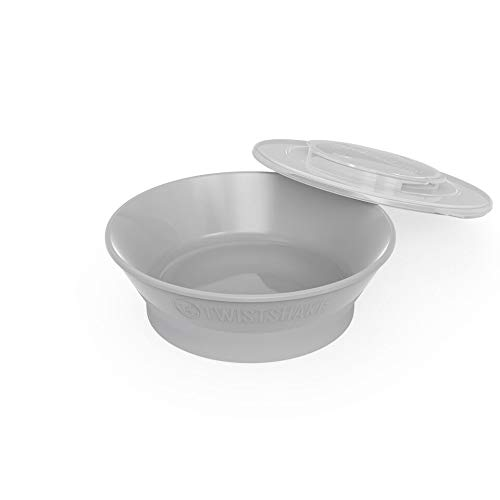 Twistshake 6+M Bowl, Baby Accessories, Quality Plastic Food Containers (Gray) by TWISTSHAKE