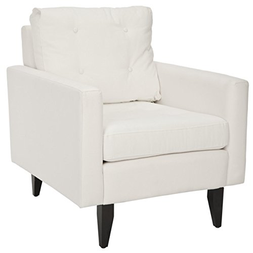 Safavieh Mercer Collection Curtis White Club Chair For Sale