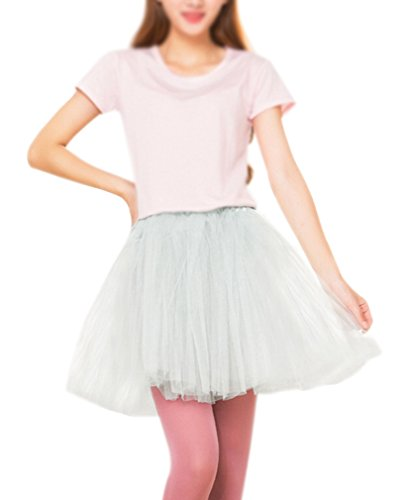 WOmen's White Layered Tulle Skirt