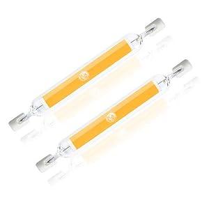 Bonlux 10W R7S 118MM LED Lampadina Linear Luce Naturale 4000K J118 Dippio Effetto COB Filamento Lampada 118mm x 15mm… 3148IUD YDL. SS300