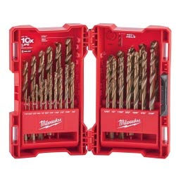 Milwaukee Cobalt Drill Bit - 29 Piece Cobalt Red Helix Drill Bit Set, new