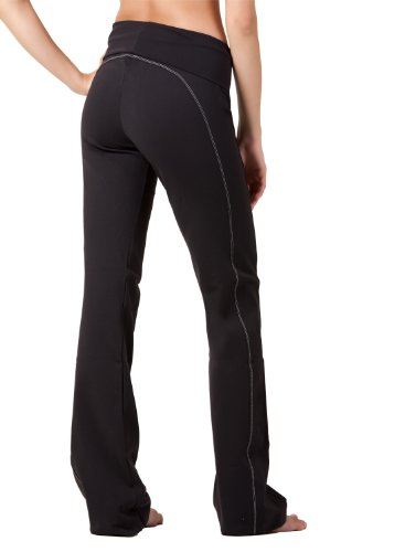 Top-stitched Yoga Pants by Fit Couture, M-31'', Black by Fit Couture (Image #2)