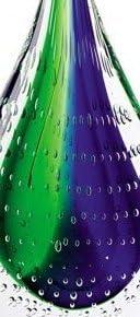 Badash Crystal – Murano Style Art Glass Teardrop Centerpiece on Crystal Base 10.5 Inch Tall