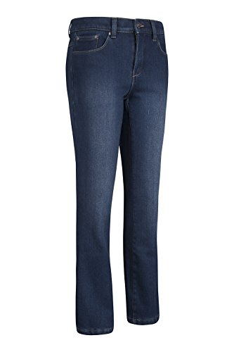 Mountain Warehouse Pantalones vaqueros Deborah de longitud regular con forro polar para mujer Azul denim
