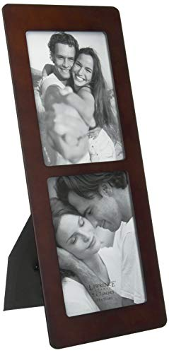 Lawrence Frames Walnut Wood 5x7 Multi Double Vertical Picture ()