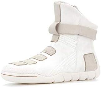 メンズ冬の屋外の雪のブーツ暖かいとベルベット肥厚チューブ防水ノンスリップ綿の靴は、スタイルの綿のブーツをひもで締めます (色 : 白い, サイズ : 24.5 CM)