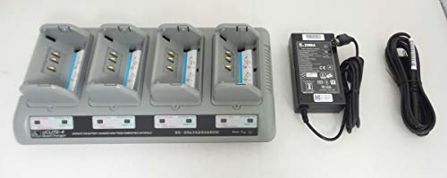 (Zebra UCL172-4 Quad Charger for QLn420, QLn320, QLn220, RW420 and RW220 Mobile Printers P/N: AT16305-8)