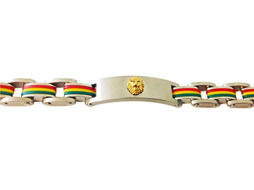 (viStar Stainless Steel Gold Plated Lion Bracelet Tricolor (7.5 Inches))