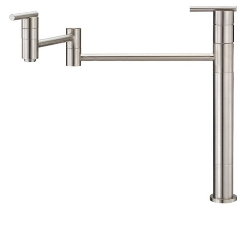 Danze D206558SS Parma Deck Mount Pot Filler, Stainless - Kitchen Style Mount Deck