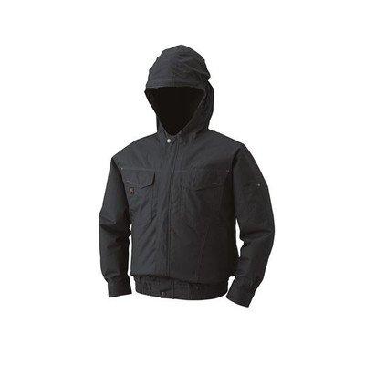 空調服 フード付綿薄手長袖ブルゾン リチウムバッテリーセット BM-500FC69S2 チャコール M[通販用梱包品] B07DGVK5V2
