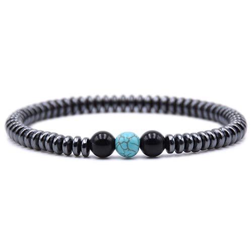 Minimalist Natural Stone Bracelet Men Charm Hematite Beads Bracelet Male Cool Biker Diy Jewelry Accessories Bracelet -