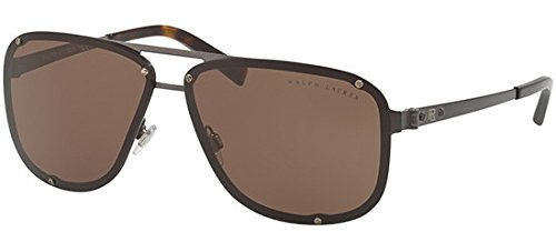 Ralph Lauren Sunglasses Men's Metal Man Sunglass Aviator, Dark Brushed Gunmetal, 64 mm ()
