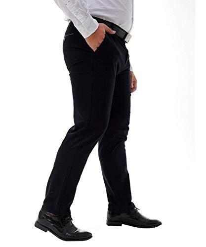 Pants Fit Casual Pantaloni Hose Flat Herren Leichte Dunkelblau Formale Ufficio Chinohose Haidean Moderna Regular Anzughose Freizeithose Businesshose Slim Work A3Rjq4LSc5