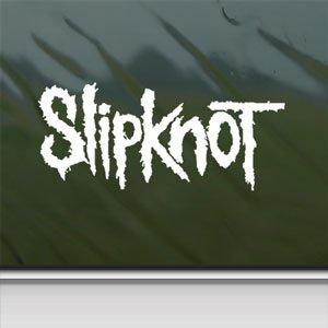 Crawford Graphix Slipknot White Sticker Rock Band