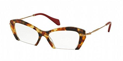 MIU MIU Eyeglasses MU 03OV UA51O1 Medium Havana - Aviator Miu Miu