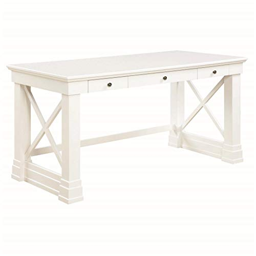 Coaster Home Furnishings Johansson 3-Drawer Writing Desk with X-Shaped Braces Antique White (Desk Antique White)