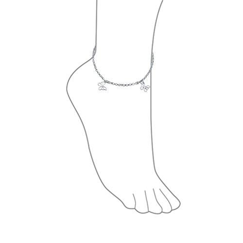 4 Multi Butterfly Anklet Dangle Charm Ankle Bracelet For Women 925 Sterling Silver 9 To 10 In Extender